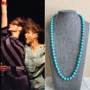 '60s / Turquoise Bead Necklace